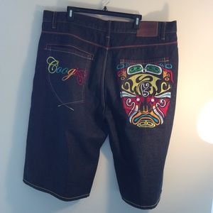 Men's Coogi  Embroidered Shorts Size 42W L16